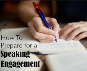 Preparing for a Christian Speaking Engagement